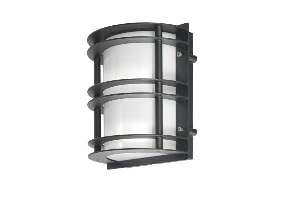 Настенный уличный светильник Norlys Stockholm Wall Black (матовое стекло)