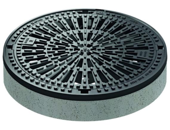 Канализационный люк чугунный ACO BEGU решетчатый (круглый, 600мм)