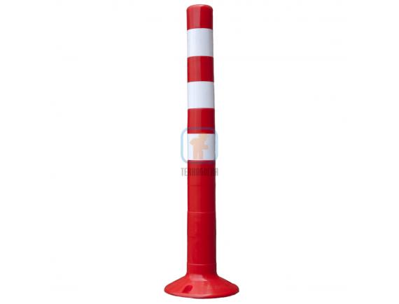 Столбик разделительный гибкий 750мм цельный. 3 полосы