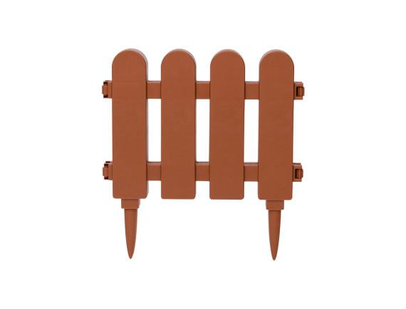 Забор декоративный садовый DRINA (коричневый)