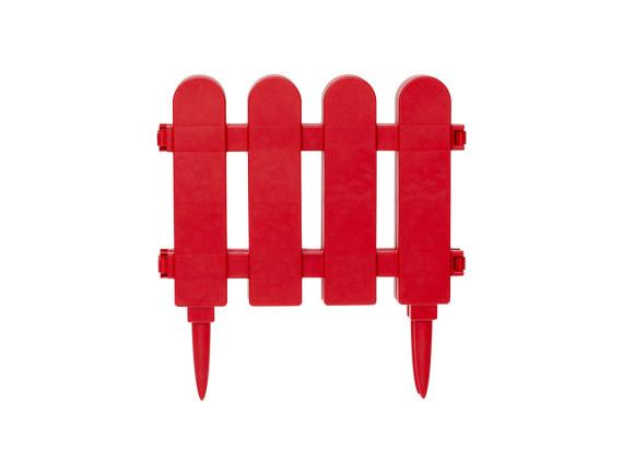 Забор декоративный садовый DRINA (красный)