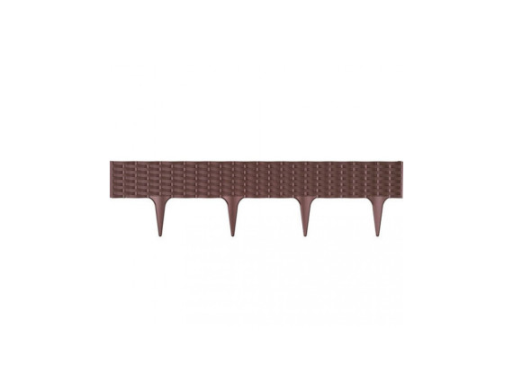 Бордюр садовый пластиковый GARDEN BORDER коричневый, длина 3,9м, высота 18,65см