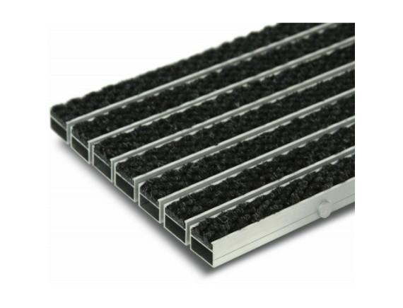 Грязезащитная алюминиевая решётка Профи с ворсовыми вставками
