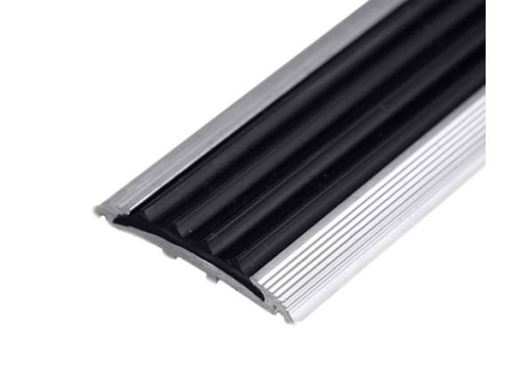 Плоская накладка на ступени (алюминий и резина)