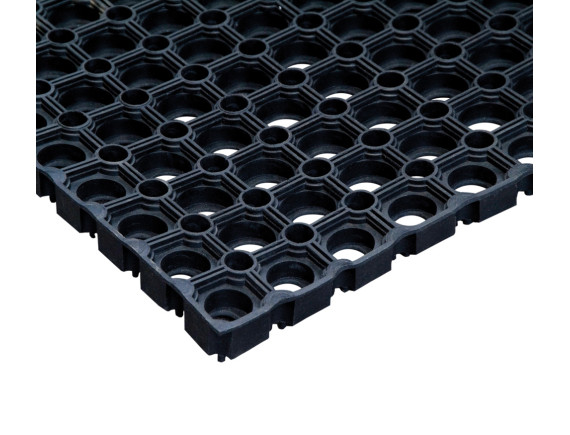 Резиновый коврик на ступеньки с отверстиями (26×75 см)