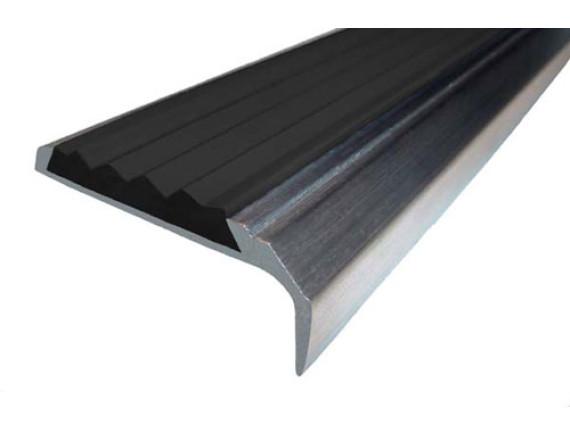 Угловая накладка на ступени (алюминий и резина)