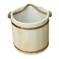 Ведро для бани с пластиковой вставкой