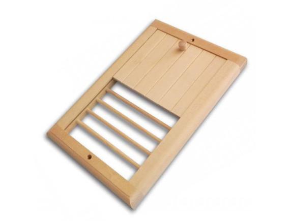 Вентиляционная решетка для бани с задвижкой (большая)