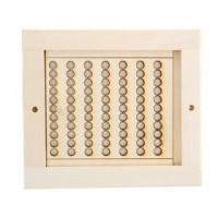 Вентиляционная решетка для бани (с задвижкой)