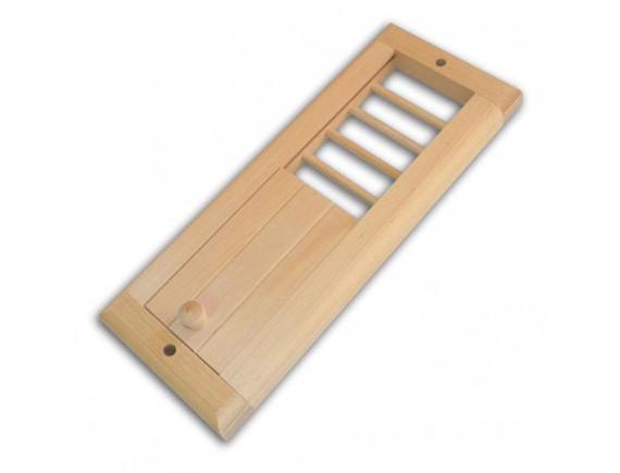 Вентиляционная решетка для бани с задвижкой (малая)