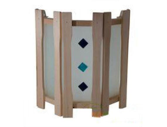 Абажур для бани прямой с тремя стеклами с вставками