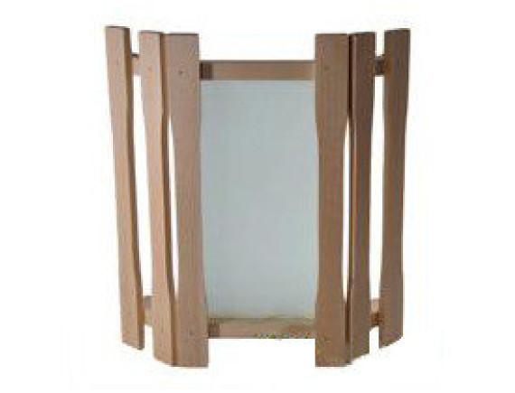 Абажур для бани угловой с одним стеклом (АУ1-1С)