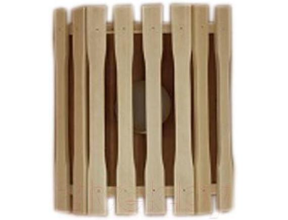 Абажур для бани прямой деревянный