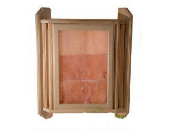 Абажур для бани угловой с гималайской солью на три плитки