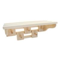 Вешалка для бани комбинированная (5 крючков)