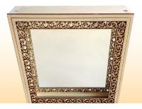 Зеркало для бани квадратное (малое) резное