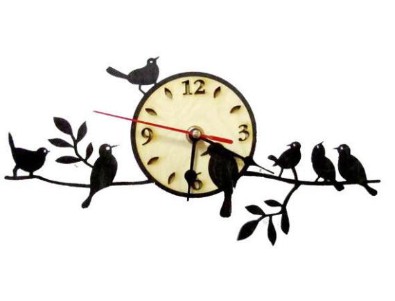 """Часы для бани """"Птички на ветке"""""""