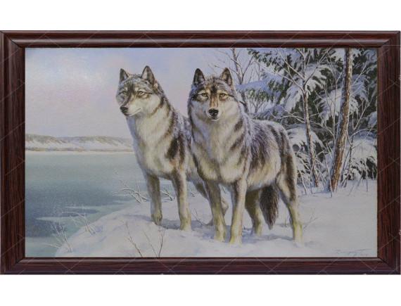 """Картина для бани """"Волки"""""""