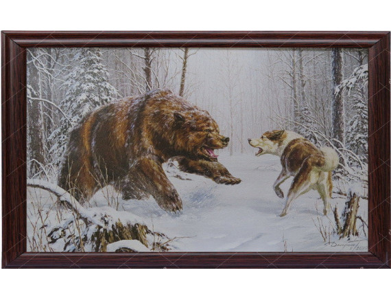 "Картина для бани ""Медведь"""