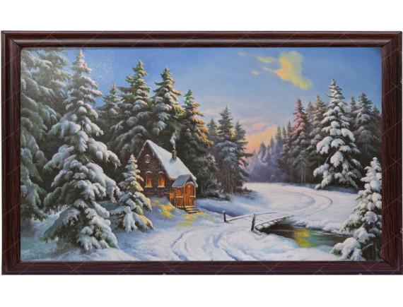 "Картина для бани ""Зима"""