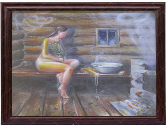 "Картина для бани ""Девушка"""