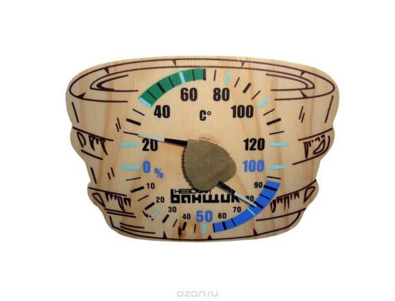 "Термометр+гигрометр для бани и сауны ""Шайка"""