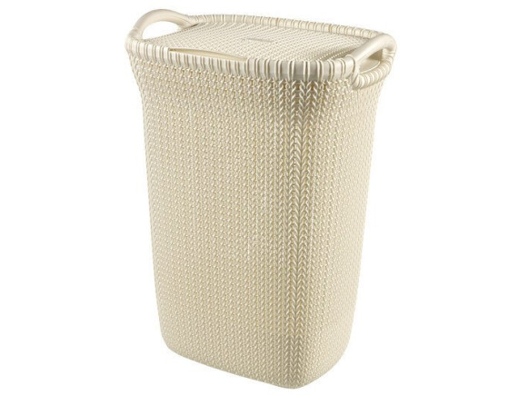 Корзина бельевая Curver Knit Laundry Hamper 57L (белый)