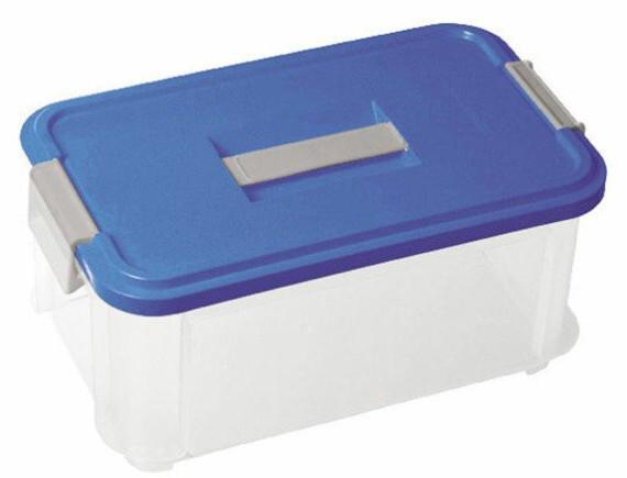 Ящик для хранения с крышкой Curver Box 9,4L (прозрачный/синий)