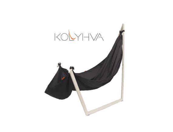 Гамак переносной «Kolyhva» с разборной стойкой для резонансной терапии и релаксации