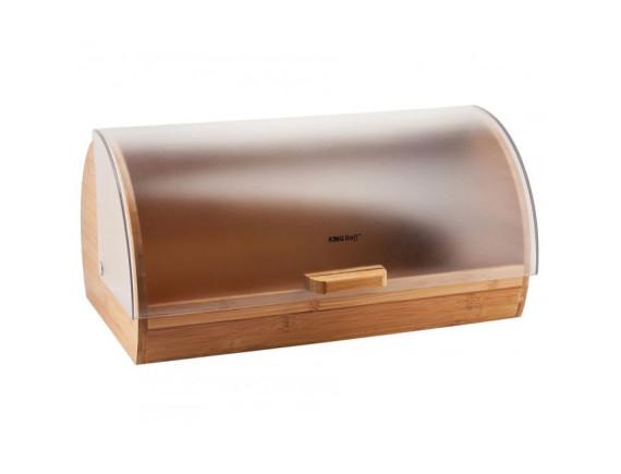 Хлебница деревянная с пластиковой крышкой KINGHoff