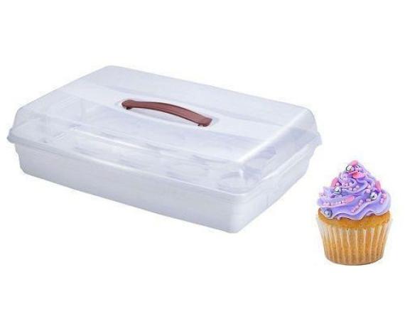Контейнер для пирожных Curver CUPCAKE BOX (прозрачный)
