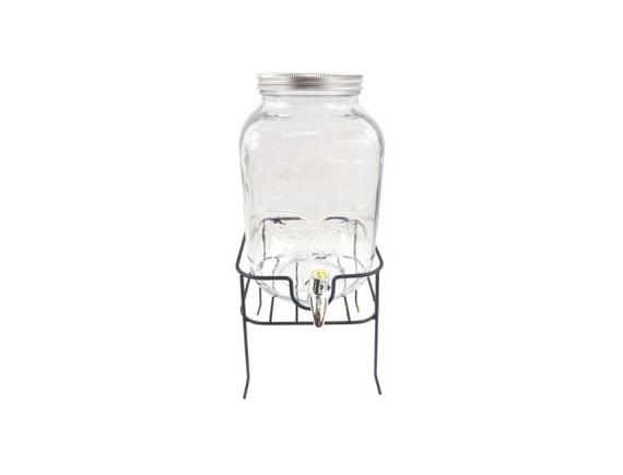 Лимонадник стеклянный 4 л на подставке Feniks