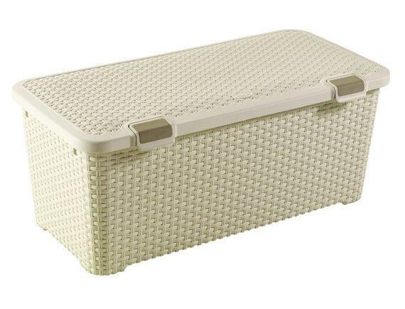 Ящик для хранения Curver Rattan Style Trunk 72L (кремовый)
