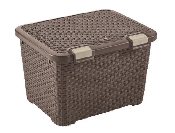 Ящик для хранения малый Curver Rattan Style Trunk 43L (коричневый)