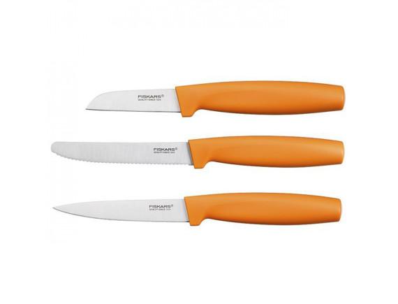 Набор ножей малых Fiskars Functional Form (3 шт.) оранжевый