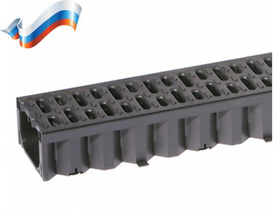 Пластиковые водоотводные лотки ACO Self Hexaline (с пластиковой решеткой)