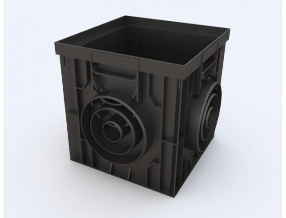 Дождеприемник Ecoteck пластиковый 300х300 (черный)