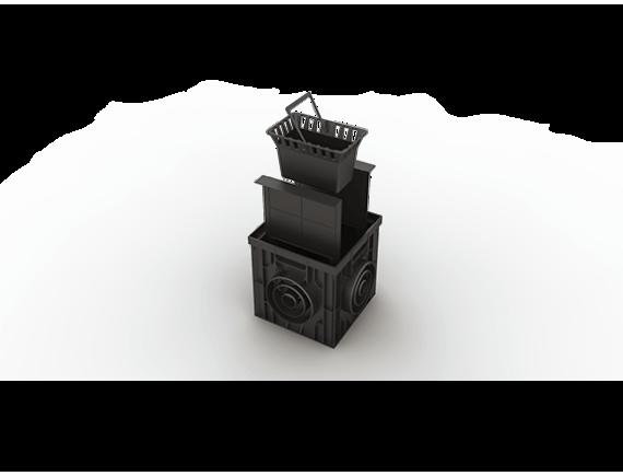Дождеприемник Ecoteck пластиковый 300х300 в сборе (черный) без решетки