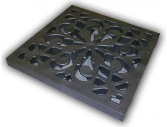 Решётка Ecoteck пластиковая декоративная к дождеприемнику (металлик)