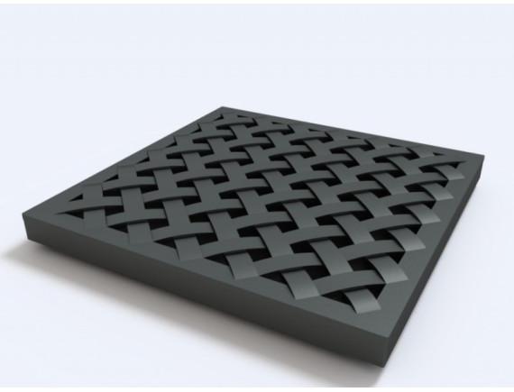 Решётка Ecoteck пластиковая усиленная к дождеприемнику (черный)