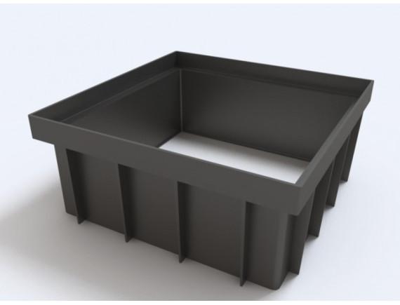 Надстройка Ecoteck к дождеприемнику 300х300 (черный)