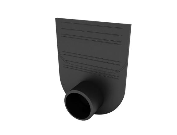 Заглушка-переходник для лотков пластиковых Ecoteck Стандарт 100.125 и 100.175 (черный)