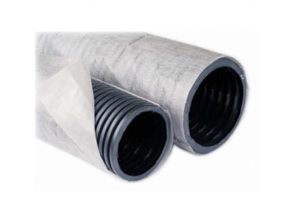 Дренажная труба в геотекстиле Ø90 мм (вторичный пластик)