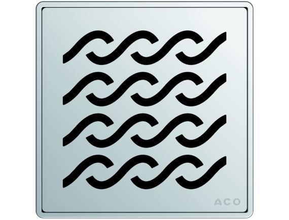Квадратная решетка для трапа ACO EasyFlow серии Exclusive (Hawaii)