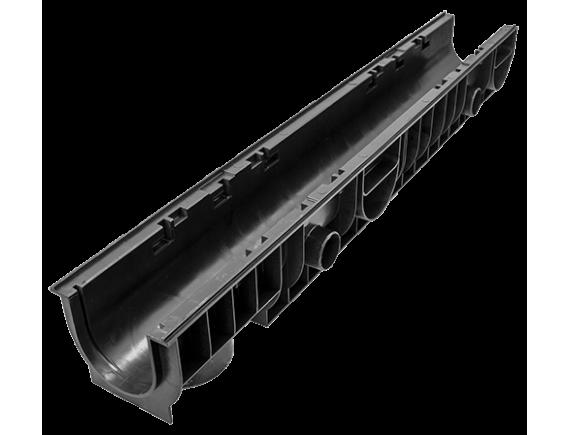 Лоток Ecoteck 100.125 h129 пластиковый (черный)