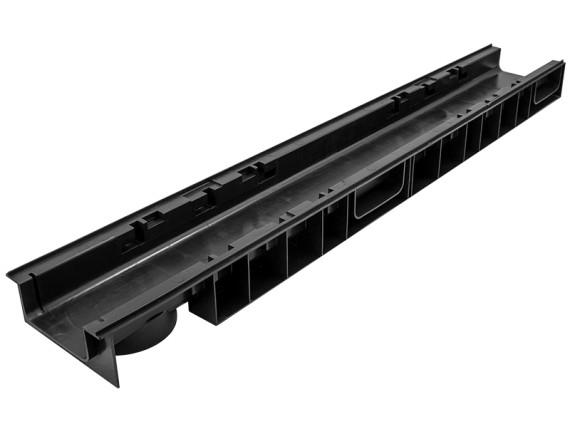 Лоток Ecoteck 100.65 h69 пластиковый (черный)