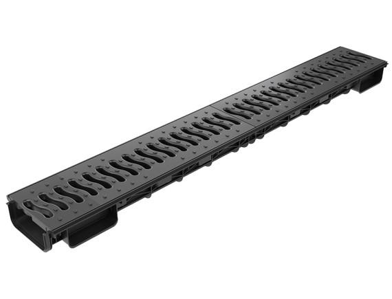 Лоток Ecoteck Lite 100h56 с решеткой пластиковой, кл. А15 (черный)