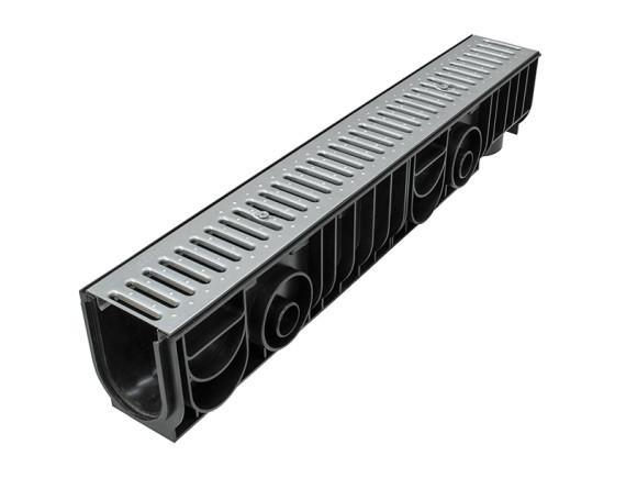 Лоток Ecoteck STANDART 100.175 h179 c решеткой стальной, кл. А15