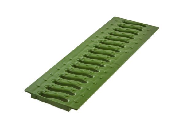 Решетка Ecoteck 100 пластиковая Волна (зеленый папоротник)