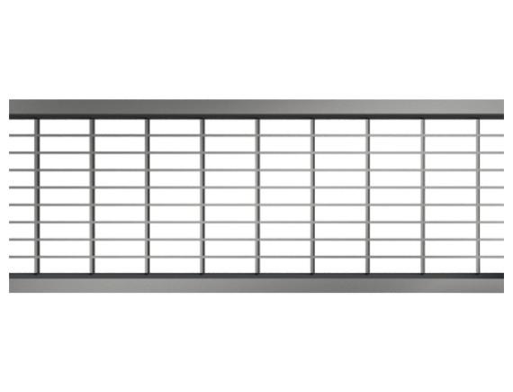 Решетка для каналов ACO Self (нержавеющая сталь ячеистая 30х10)